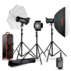 Studio flash kit 2 Godox QTII 2xQT400IIM QT600IIM