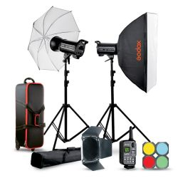 Studio flash kit Godox QTII 2xQT400IIM