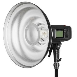 Quadralite Wave Beauty Dish srebrny 42