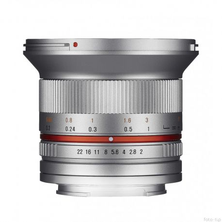 Samyang 12mm F2.0 for Canon M silver